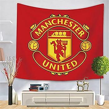 Giyiohok Football Club Logo Tapestry Manchester United Logo Team Emblem Wall Cloth Home Decoration Background Wall Cloth-Manchester United_83 * 59 inches  210 * 150 cm