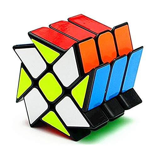 CuberSpeed YJ Windmill Magic Cube 3x3 Black YJ Wheel Fenghuolun 3x3x3 Speed Cube Puzzle
