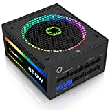 GAMEMAX Power Supply 850W Fully Modular 80 plus Gold Certified with Addressable RGB Light Mode, RGB-850