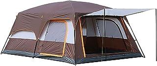 JQDZX Campingtält - Familjedjur, kupol, tält med dubbla lager, vattentätt och UV-skydd, kupol, semester, 2 sovrum, tält, f...