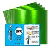 Craftables Green Metallic Craft Vinyl for Cricut and Silhouette, Cameo - Chrome Polish Finish Vinyl - (5) 12' x 12' sheets