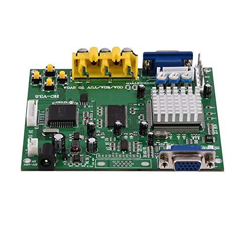 Heayzoki Tragbare Hochgeschwindigkeits-Original-GBS8200 5V Active Low 1-Kanal-Relaismodulkarte, CGA/EGA/YUV/RGB-zu-VGA-Arcade-Spiel HD-Videokonverter-Adapterkarte für CRT-LCD-PDP-Monitor