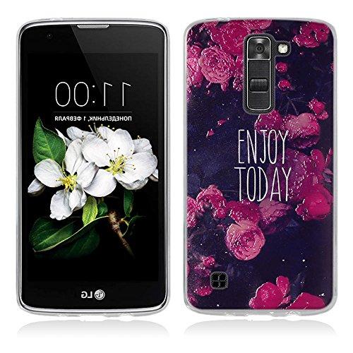 FUBAODA für LG K7 Hülle, für LG Tribute 5 Hülle, 3D Erleichterung Gute Qualität Muster TPU Case Schutzhülle Silikon Case für LG K7 / Tribute 5 (LS675 / X210 / X210DS)
