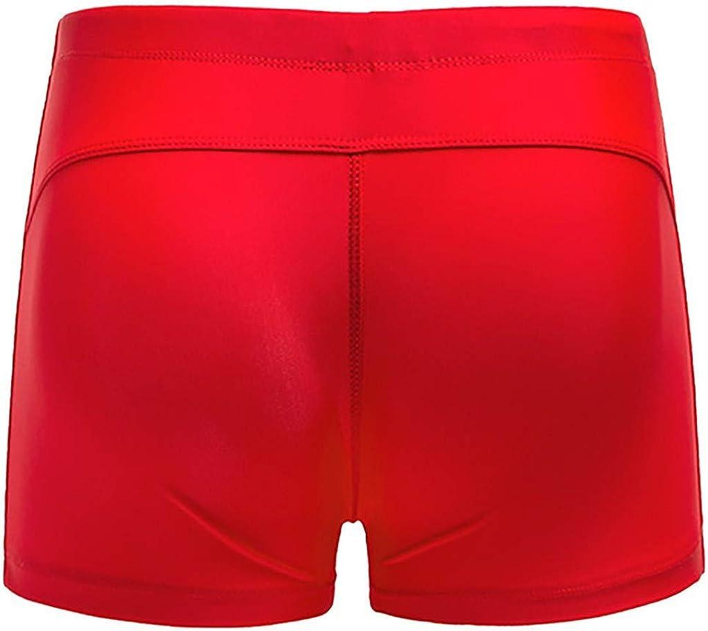 iLH Men Swimwear Solid Basic Long Swim Boxer Trunks Board Shorts Swimsuits