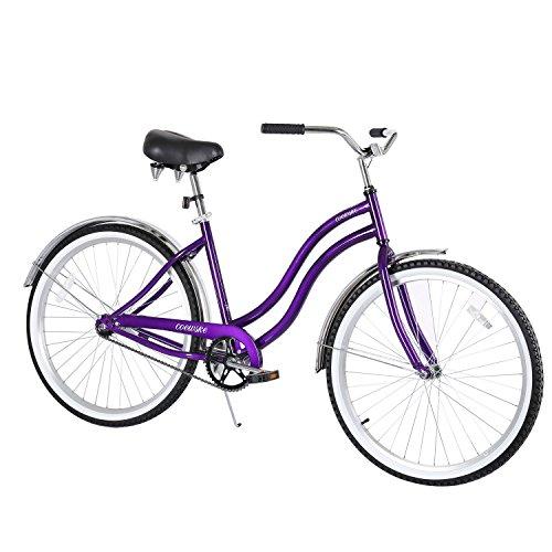 COEWSKE 26' Single Speed Men Women's Beach Cruiser Bicycle