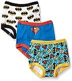 DC Comics Boys Toddler Superman, Batman and More Training Pants, Assorted Justice League, 2T, 3-PACK