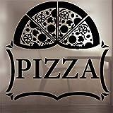 Wandtattoo Schlafzimmer Pizza Sticker Food Decal Poster Art