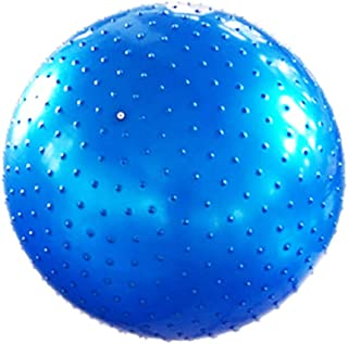 Yoga Ball Massage Ball Yoga Ball Thickening Explosion-Proof Fitness Ball Yoga Particles Touch Ball Children's Dragon Ball (Color : Blue, Size : 75CM)