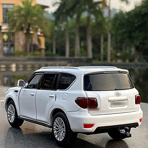KXSM 1:32 para N-Issan para Patrol SUV Alloy Car Modelo Diecasts & Toy Metal Vehicles Modelo de automóvil Modelo Miniatura Modelo Juguetes de automóvil para ChildRensgift (Color : White)