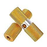 Ayughj 2pc Pedales de Bicicletas Eje de pie Pegaciones de Reposo Antideslizante Pies Traseros Pedales Material de aleación de Aluminio Durable para Bicicleta de montaña Ciclismo (Color : Yellow)