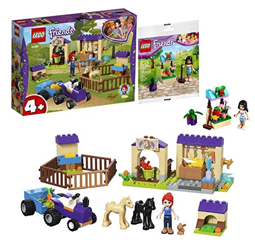 Legoo Lego Friends-Set: 41361 Friends Mias Fohlenstall + 1 Friends Bauset Polybag, Verschiedene Themenbereiche ab 4 Jahren