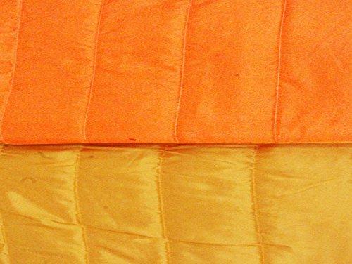 Copridivano Copri Divano IRGE COLOR Double Face Trapuntato Braccioli 2 3 Posti (3 Posti, Giallo / Arancione)