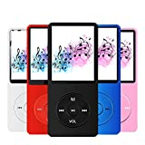 MP3 Player with a 16GB Micro SD Card, Maximum Support 128GB | Build-in Speaker | M MayJazz Music Player with Photo/Video Player/FM Radio/Voice Recorder/E-Book Reader - Black