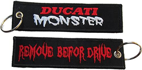 Ducati Monster Remove Before Drive Flight Biker Embroidered Keychain Patch Badge product image