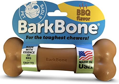 Pet Qwerks BBQ Flavor Infused BarkBone Durable Toys for Aggressive Chewers Tough Indestructible product image