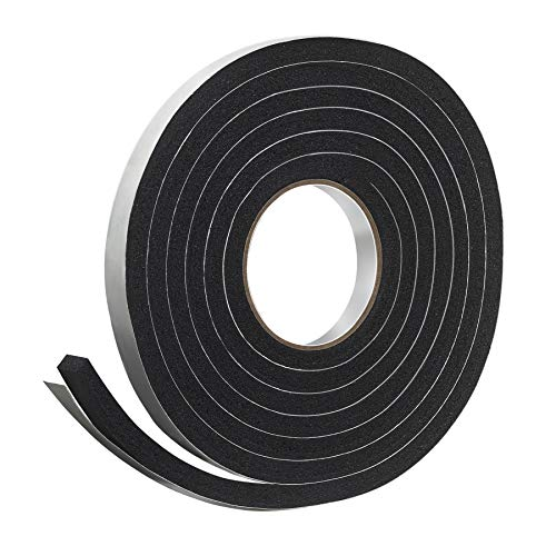 "Frost King R734H Sponge Rubber Foam Tape 3/4"" W X 7/16"" H X 10' L, Black"