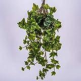 artplants.de Mata de Hiedra Artificial con 225 Hojas, Verde, 70cm - Planta sinttica - Mata Decorativa