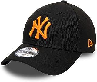 New Era York Yankees MLB Pop Logo Black Neon Orange 9Forty Adjustable Snapback Cap