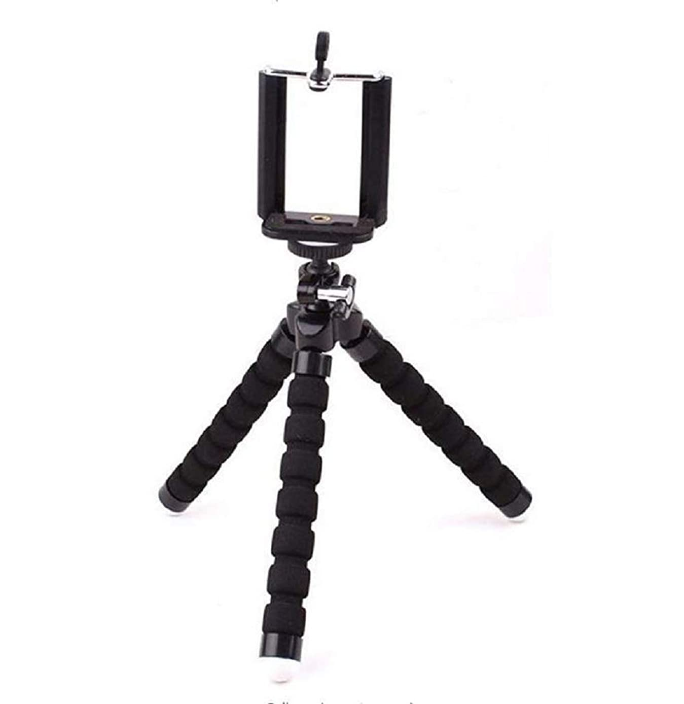 RUSTAM HASHYMOV Phone Tripod,Portable All-in-One Professional, Heavy Duty Aluminum, Lightweight, Bluetooth Remote for Apple & Android Devices, Non Skid Tripod Feet (Black, 2415)