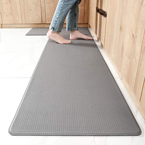 NUOLANDE Küche PU-Fußmatten, Leder Wasserdicht, Ölbeständig, rutschfeste Fußmatten PVC Entlasten Müdigkeit Und Ölabsorbierenden Teppiche Für Küche Balkon Korridore