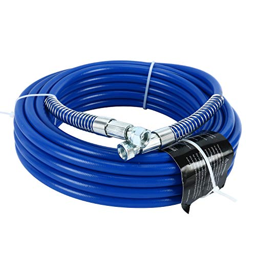 """50ft x 1/4"""" Airless Paint Spray Hose, Blue Color 15m Light Flexible Fiber Tube, High Pressure Sprayer Tube (15m)"""