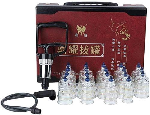 ZSXH ZSXHSchröpfgerät Fallfeste Saugnäpfe Glas Vakuum Schröpfen Set Massagegerät Schröpfen Werkzeuge für die Massage