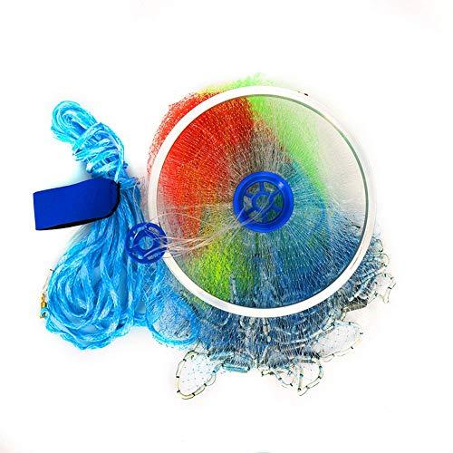 Csatai Angeln Net, Fischernetz, Outdoor Nylon Falt Fangnetz Fisch Garnelen-Käfig Falle Netz, handgefertigt, Salzwasser, Wurfnetz (Style3,4.2M)