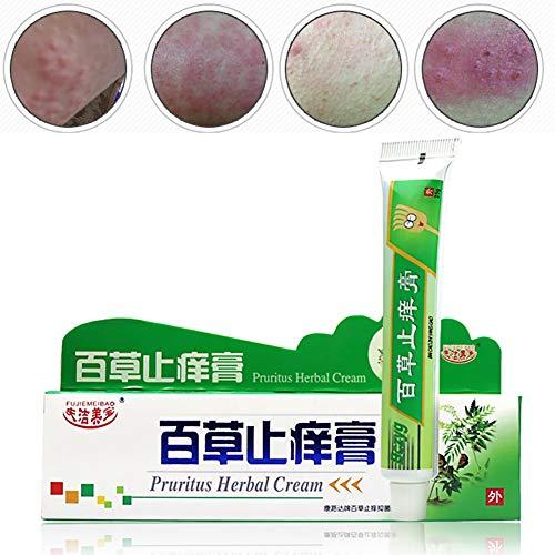 Kräuter Anti Juckreiz Creme, KISSION Pruritus Creme für Haut Juckende Ekzem Dermatitis Behandlungs Haut Trockene Creme (A)