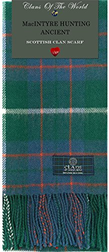 I Luv Ltd MacIntyre Hunting Ancient Tartan Clan Scarf 100% Soft Lambswool
