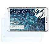 Bruni Schutzfolie kompatibel mit Blaupunkt Polaris A08.G301 Folie, glasklare Bildschirmschutzfolie (2X)