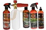 UTC Rebel Auto Car Wash N' Wax Polish Dash Vanilla Scent California Love Leather Conditioner Foam Cannon Pressure Washer (5 Pcs)