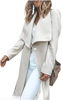 Howely Womens Lapel Mid-Long Long Sleeve Open Front Soft Jacket Cardigan