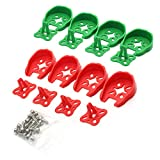 ZRM&E 8pcs 2204/2205/2206 FPV Motor Guard Mount Protective Motor Caps for RC Racing Drone Quadcopter(Red+Green)
