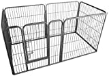 Ellie-Bo Heavy Duty Modular 6 Piece Indoor Puppy Exercise Play / Whelping Pen 13 square feet floor size