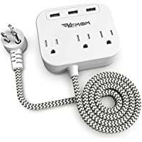 Vemoom 3-Outlet 3-USB Power Strip with USB