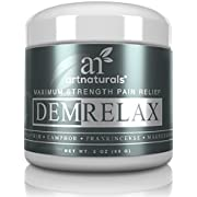 ArtNaturals Demrelax Pain Relief Cream, Helps Relieve Sore Joints, Muscles, Back, Neck Pain and Arthritis, Maximum Strength Treatment, Arnica, MSM and Magnesium, 2.0 oz.