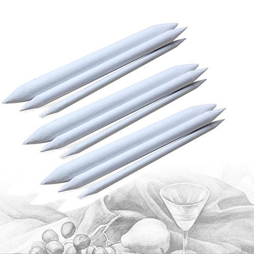 Zadaro Assorted Paper Blending Stumps And Tortillions Set for Art Sketch Drawing 3Pack of 9pcs