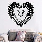 YuanMinglu Cartoon Zahn Lächeln Wandbild Aufkleber Wandaufkleber Dekoration für Zahnklinik 57x53cm