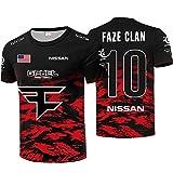 73HA73 Camisetas de E-Sport para Hombres CSGO Faze Clan Esports NIKO Uniform Sudaderas Cómodas y Transpirables T-Shirts