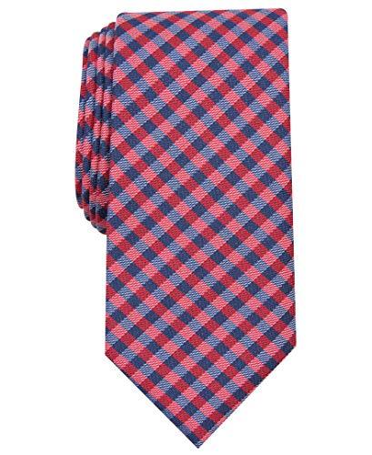 Nautica Herren Waves Plaid Krawatte, rot, Einheitsgröße
