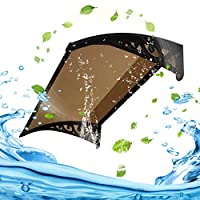 TTRY&ZHANG 日除けの雨のドアキャノピー、紫外線保護防音耐久性のある耐久性のある耐久性のある耐久性 セルフクリーニングで安全 (Color : BROWN, Size : 80X60CM)