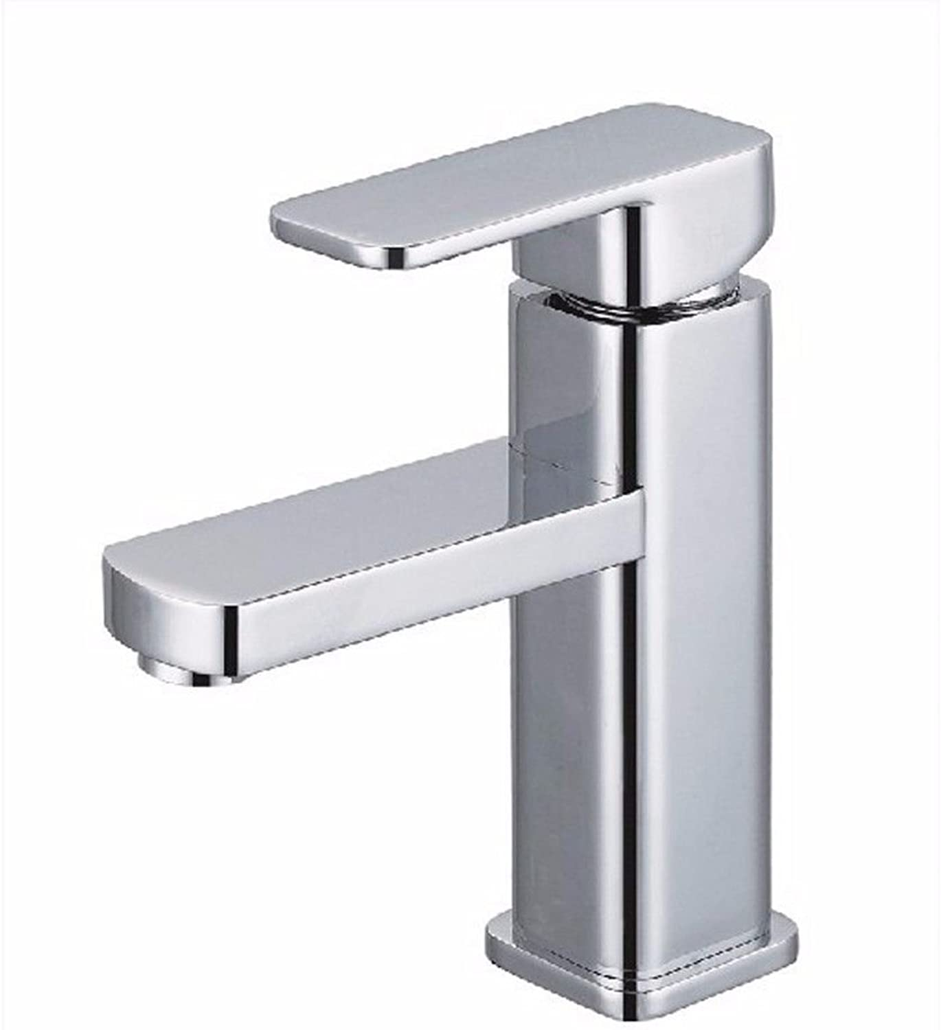 Lalaky Taps Faucet Kitchen Mixer Sink Waterfall Bathroom Mixer Basin Mixer Tap for Kitchen Bathroom and Washroom Copper Chrome Single Handle Single Hole Square Hot and Cold