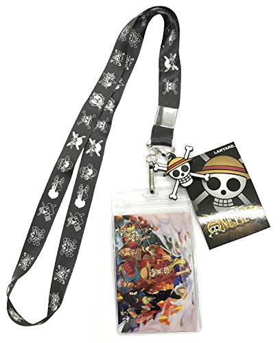 One Piece Flags Lanyard With Badge ID Holder and PVC Charm