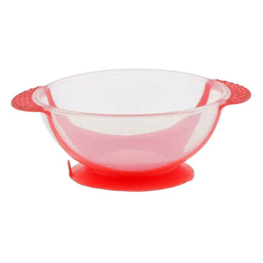 Fenteer ヘアダイボウル サロン ヘアカラー ミキシングボウル プラスチック製 染料 色合い ボウル 3色選べる - ピンク