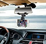 K-S-Trade Compatible avec Royole FlexPai Montage Porte-Smartphone Rétroviseur Mirror Holder Voiture Titulaire Holder Support De Téléphone Détenteur Noir