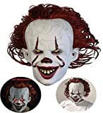 DEALYU Pennywise Maske 2019 - Stephen King's Es Maske - LED Horror Clown Joker Maske Halloween...