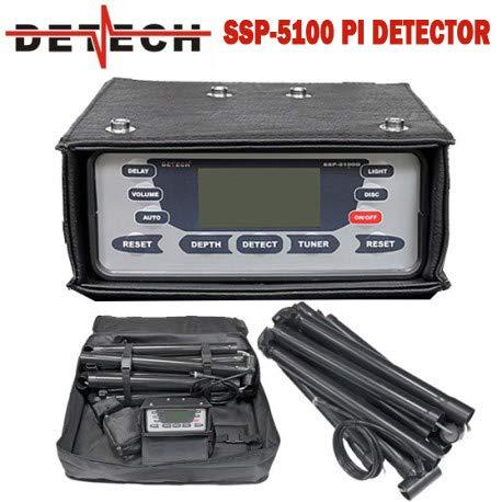 DETECH SSP 5100 Pulse, Dorado y reliquia, con Bobina Cuadrada discriminatoria de 1 m x 1 m incluida Detector Profesional de Metales