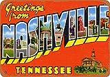 DGBELL Nashville Blechschild Wandkunst Dekoration Vintage