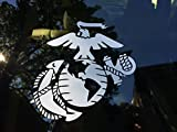 Marine Corps - Eagle Globe & Anchor White Usmc Car Decal Window Stickers (8 x 7.75)