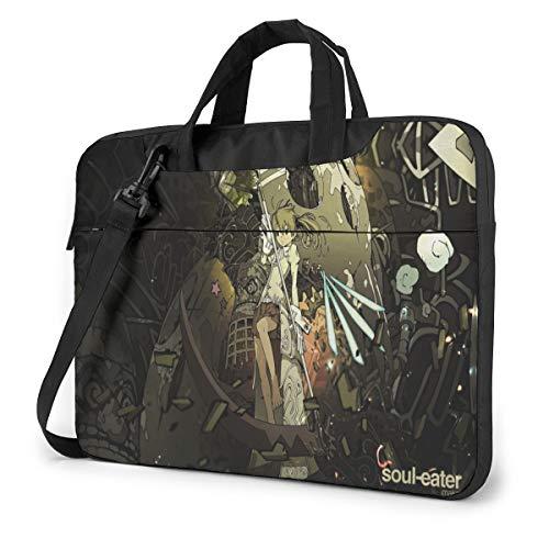 15.6 inch Laptop Sleeve Bag, Soul Eater Tablet Briefcase Ultra Portable Protective Shoulder Shockproof Laptop Canvas Cover MacBook Air